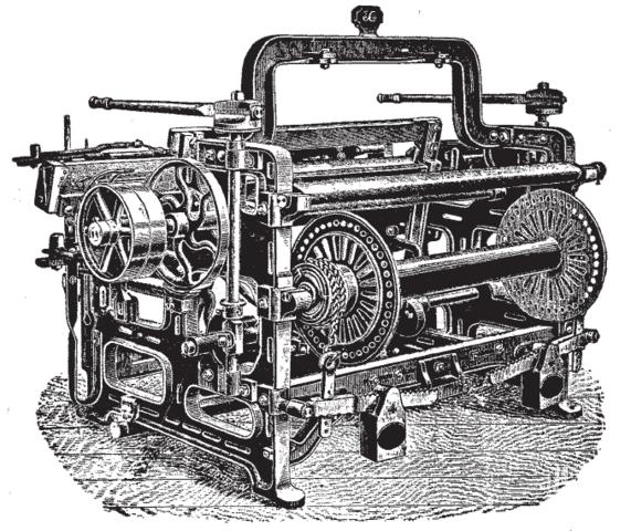 Power Loom Reduces Need for Handweaver