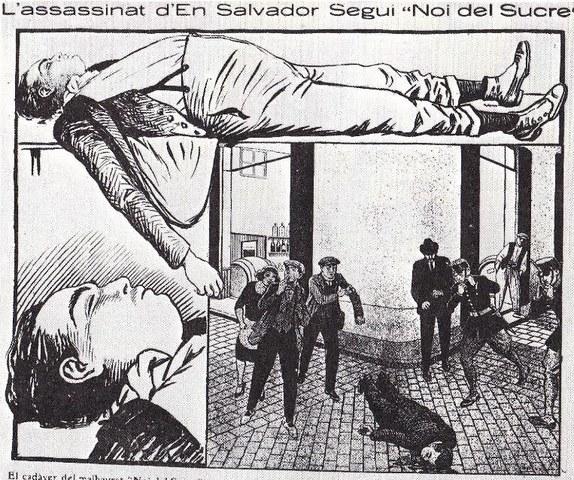 """Assassinat Salvador Seguí """"El noi del sucre""""."""