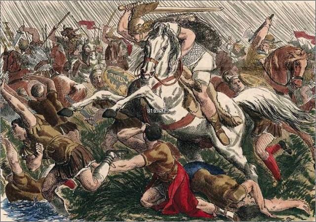 Los francos atacan a los visigodos