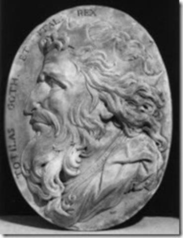 Totila rey ostrogodo, toma y saquea Roma.
