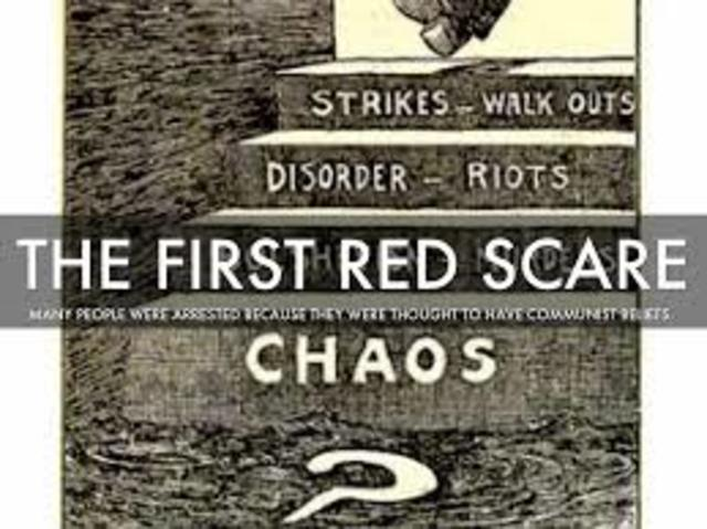 The first Red scare