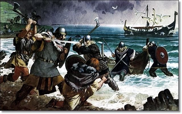 Invasiones de los anglosajones y los jutos contra Inglaterra.