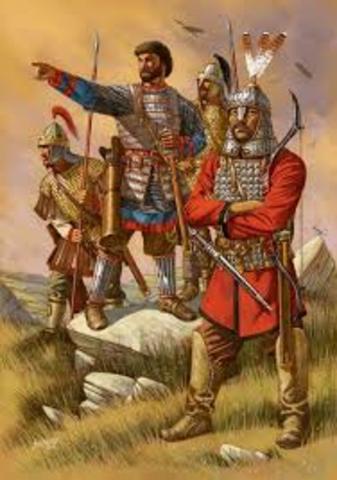 Conquistan el reino de los vándalos, en el norte de África.