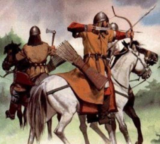 Los lombardos invaden Italia, arrebatan valiosos dominios a los bizantinos, y fundan su propio reino en dichas tierras.