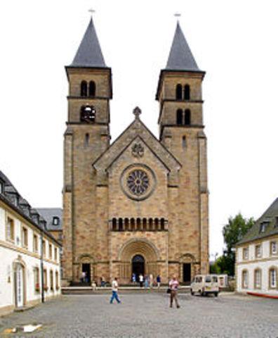 Fundación de la Abadía de Echternach