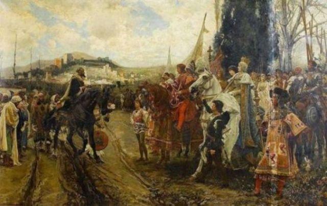 Los musulmanes,cruzan el Estrecho de Gibraltar e invaden España. Fin del Reino Visigodo y comienzo del dominio árabe en la península.