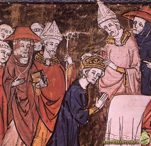 El reino franco es dividido entre Carlomán y Carlomagno.