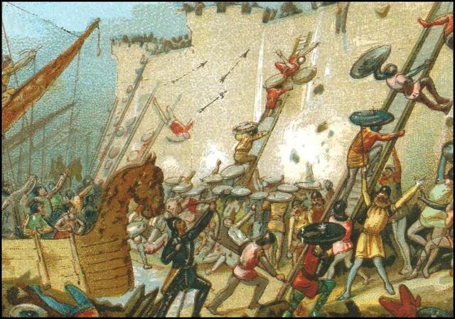 Los vikingos atacan Frisia.