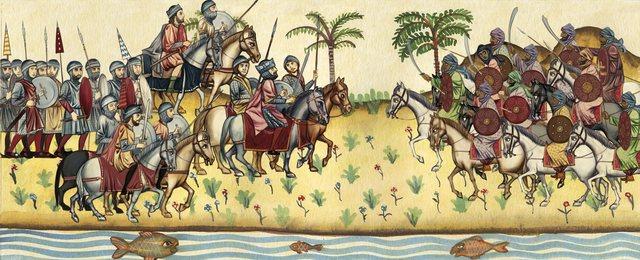 Los árabes conquistan Mesopotamia.