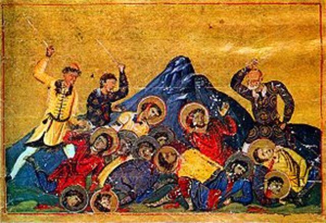 Lucha entre búlgaros y bizantinos; fundación del reino búlgaro.