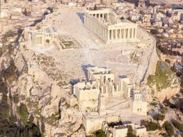 Ingeniería Griega - Construcción de templos en la acrópolis.