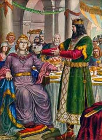 Intromisión de los lombardos en cuestiones pontificias.