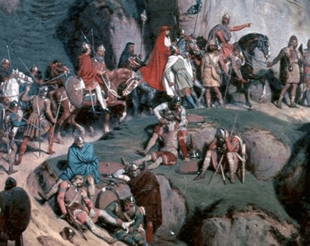 Carlomagno destruye a los lombargos