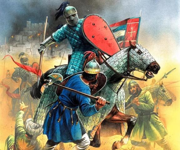 Los bizantinos contra los musulmanes.
