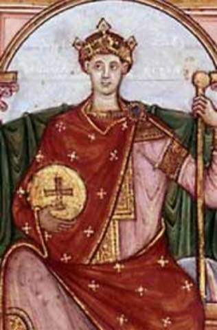 Otón el Grande coronado emperador