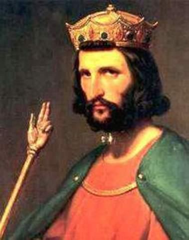 Extinción de la dinastía carolingia en Francia.