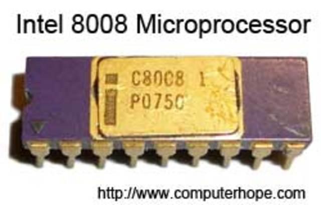 Intel introduces the 8008 processor on April 1, 1972.