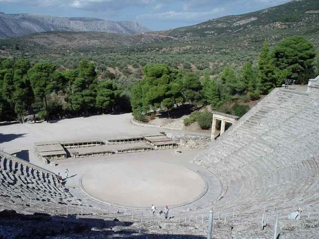 The theatre at Epidavros is built