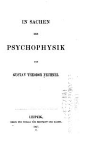 Fechner continua la obra de Weber