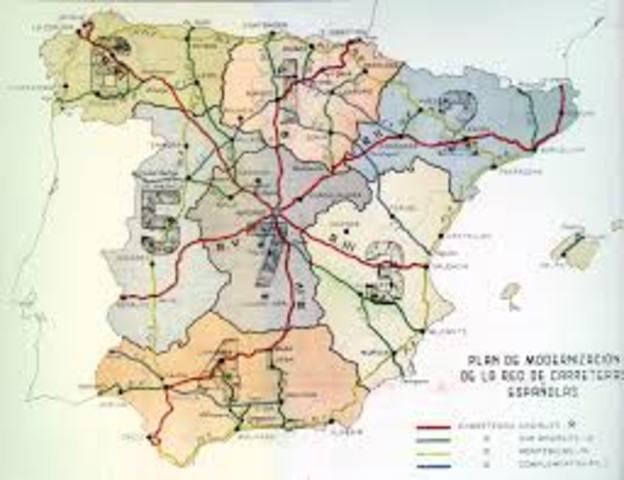 Carreteras radiales.