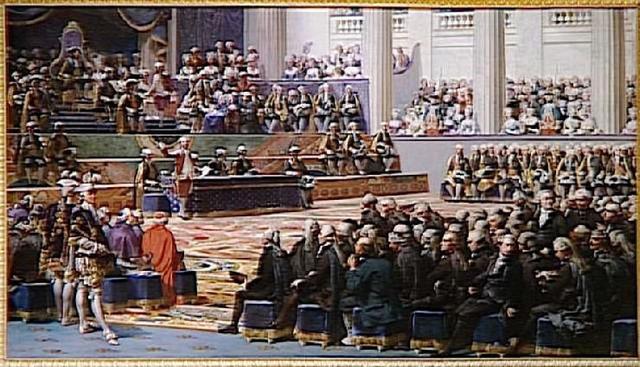Los Estados Generales iniciaron sus secciones  en Versalles