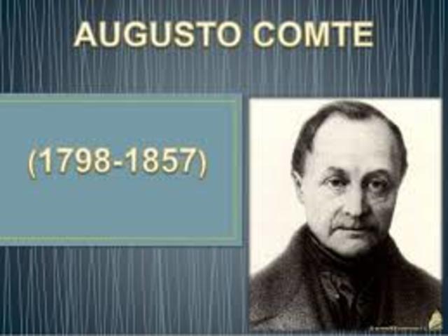 Comte, Augusto (1798 -1857)
