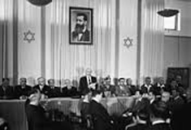 Proclamation of the new state of Israel