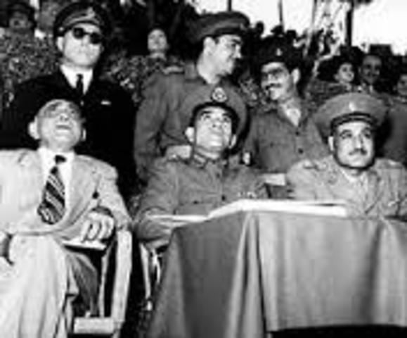 Nasser took charge of Egypt.