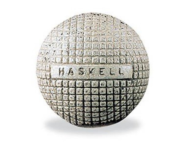 The rubber cored Haskell ball is introduced