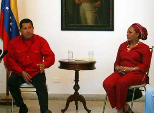 Hugo Chávez defiende la inocencia de Piedad Córdoba