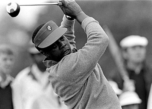 Lee Elder becomes the first black golfer to play in The Masters