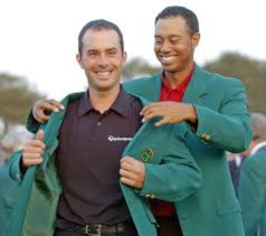 Weir wins the prestigious 2003 Masters Tournament at Augusta, Georgia, one of the four major championships.