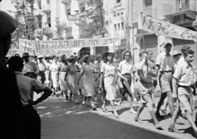 Britain ended it's Palestine Mandate
