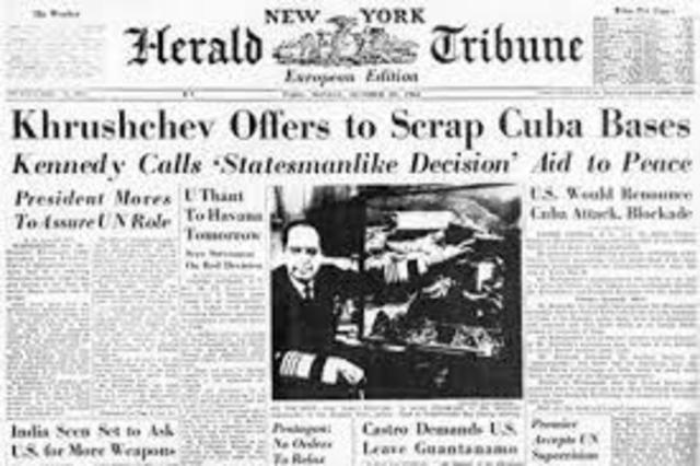 President Kennedy agrees not invade Cuba