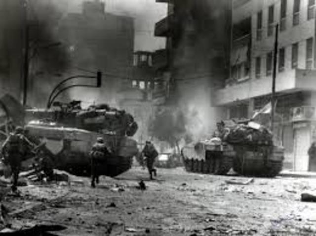 Israel invades Leanon