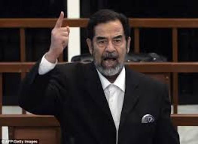 Saddam Hussein Refuses