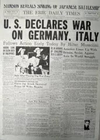 U.S. joins World War II