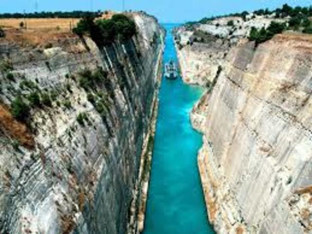 The Corinth Canal is completed