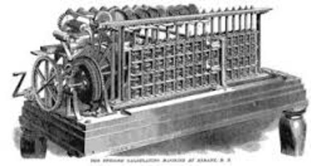 First printing calculator invented - Scheutz