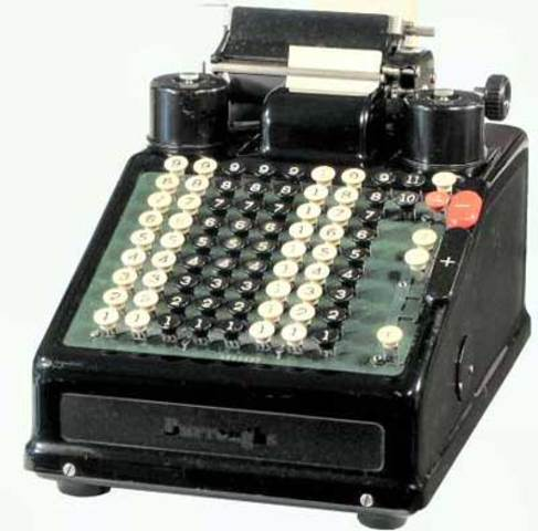 First adding machine with printer - William Burroughs