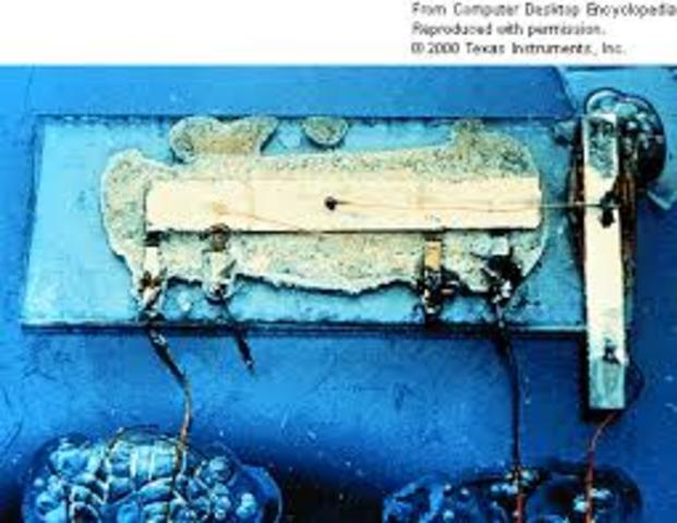 The first integrated circuit is first developed by Robert Noyce of Fairchild Semiconductor and Jack Kilby of Texas Instruments. The first IC was demonstrated on September 12, 1958.