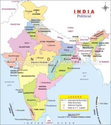 327 BC-Alexander the Great's empire reaches India