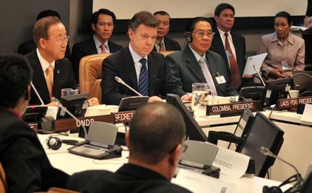 Santos prevé citas con Bill Clinton y Tony Blair luego de su debut en Asamblea de la ONU
