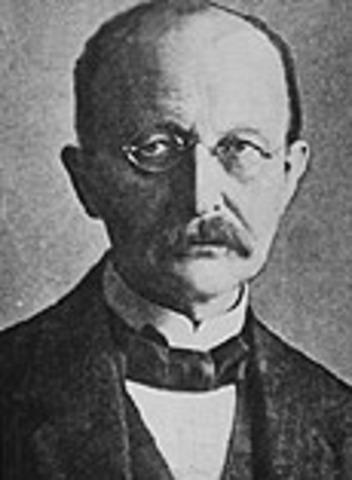 Max Planck devises quantum theory