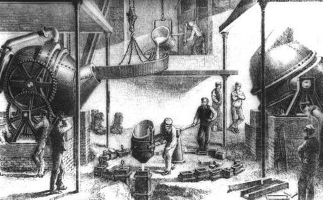 Primera produccion de acero