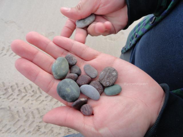 el hombre cuenta piedras y palos