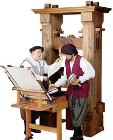 Printing Press (Gutenberg, 1439)