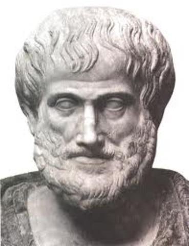 Aristotle (actually 368 B.C.E.)