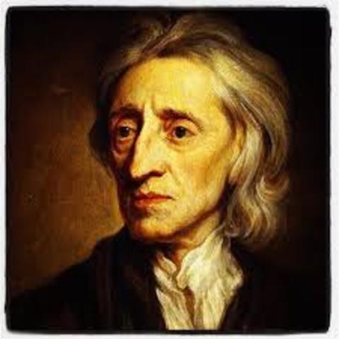 "Locke  El niño es una pizarra o ""tábula"" (tabla) rasa (1693):"