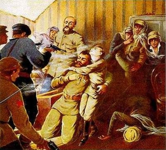 Nicholas II and his family killed